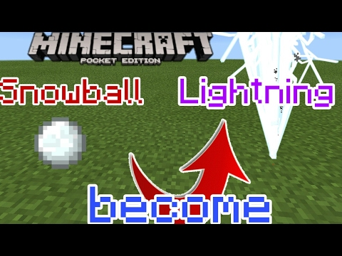 Minecraft PE ||Make a Lightning Snowball || NooB Gaming KH