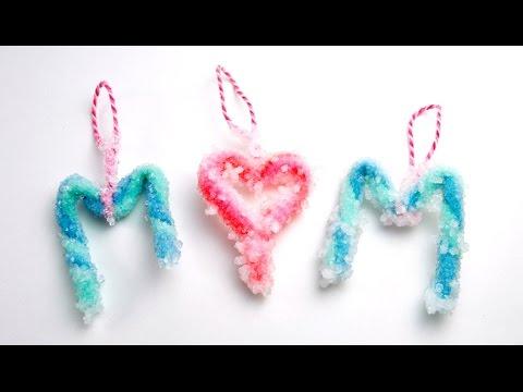 Easy Borax Crystal Ornaments DIY