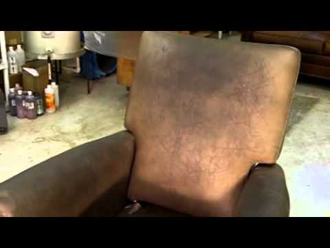 damaged leather chair