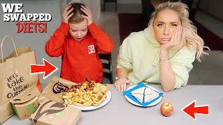 Download I swapped DIETS with a 7 year old for 24hours!! Video