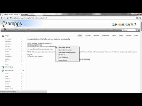 How to Install Drupal using AMPPS (Windows)