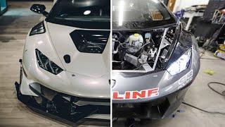 Rebuilding A Totaled Lamborghini Huracan In 10 Minutes