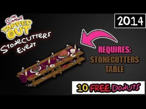 The Simpsons: Tapped Out - Stonecutters Event - 10 FREE Donuts! (Requires Stonecutters Table)