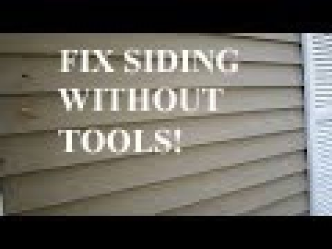 How to remove siding Without Tools