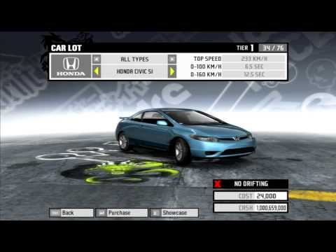 Need For Speed Pro Street - All Official & Bonus Cars (HD)