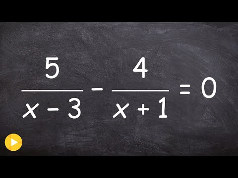 Solve a rational equation by eliminating the denominators