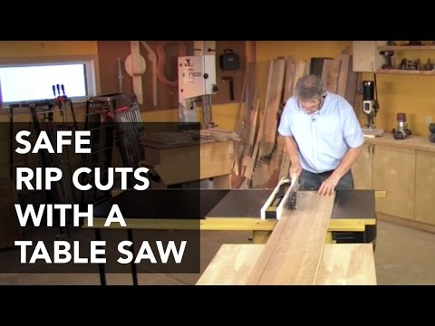 Table Saw Rip Cuts
