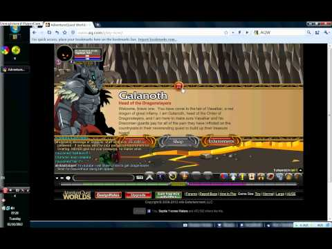 AQW cheat- how to get dragonslayer armor without doing the quests