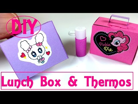 DIY Miniature Lunch Box & Thermos (Actually Works): Doll Back 2 School