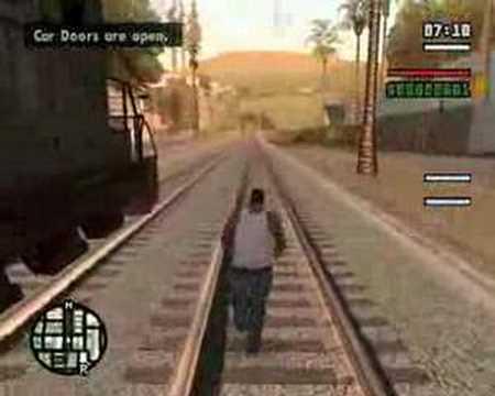 Can GTA Cj Run Faster Than A Train?