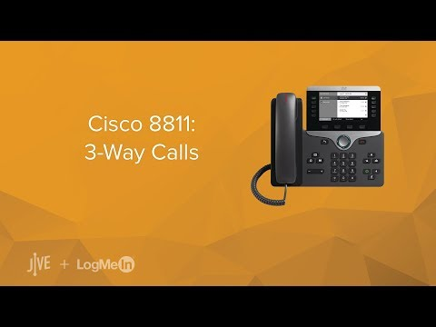 Cisco 8811: 3-Way Call