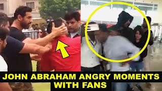 John Abraham SLAPS Fan And Pushes Them | John Abraham All ANGRY Moments