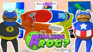 WATER GUN VS FLAMETHROWER! | The Amazing Frog Gameplay PART 15