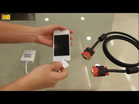 How to connect iPhone 4S to the TV using VGA