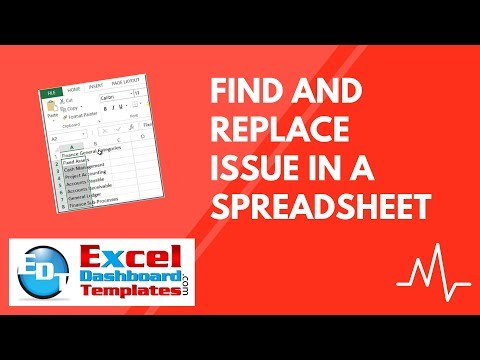 Find and Replace Issue In an Excel Spreadsheet