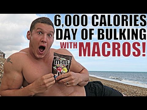6,000 CALORIES Day of Bulking! ALL MACROS COUNTED