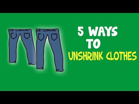 There are 5 ways for how to Unshrink your clothes