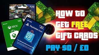 How To Get Free Psnxboxsteam Gift Cards 2016 No Credit Card Required