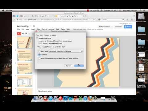 Saving a Google Presentation as a Powerpoint file