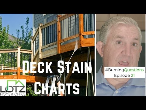 Deck Stain Charts:  Should My Deck Color Look Exactly Like the Stain Charts?