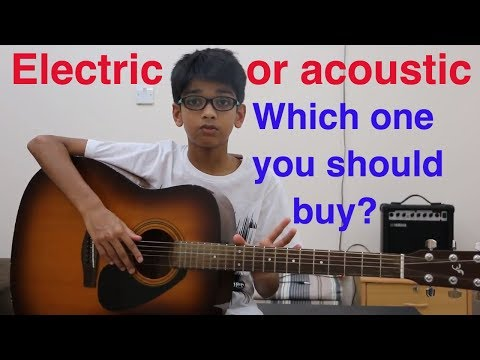 Acoustic guitar vs Electric guitar for Beginners how to choose the perfect guitar Deep Patel best