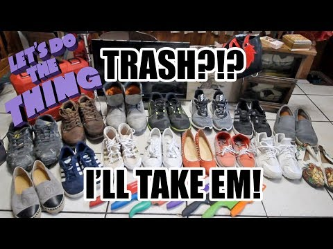 Dumpster Diving JACKPOT! Great Haul Of Shoes / My Experience On Fiverr - STORYTIME!