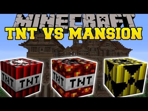 TOO MUCH TNT MOD VS HEROBRINE'S MANSION - Minecraft Mods Vs Maps (TNT, Dynamite, & Nukes)