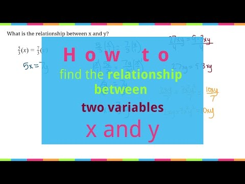 How to Find the Relationship Between Two Variables, x and y.