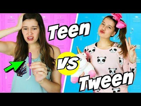 Tween vs Teen!   Middle School vs High School!
