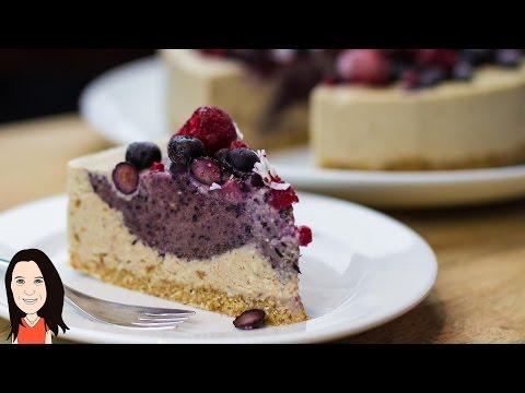 Raw Vegan Berry Cheesecake - Easy Recipe!