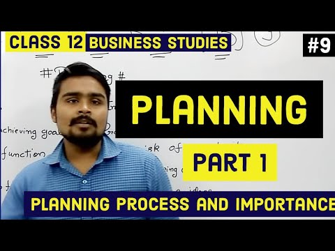 #9,Planning and it's process(Class 12 business)