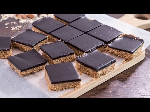 Healthy No-Bake Chocolate Peanut Butter Oat Bars Recipe