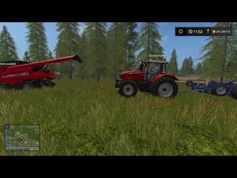 Farming Simulator 17 colhendo  canola