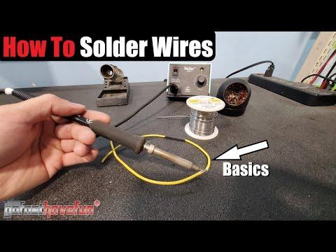 How to Solder / Soldering Basics Tutorial