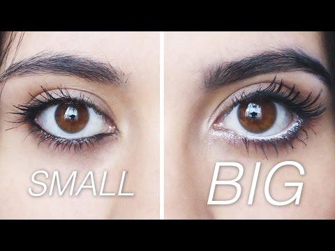 MAKE YOUR EYES LOOK BIGGER OR SMALLER (EASY) | Paulettee