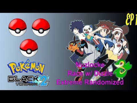 RANDOMIZE THOSE STARTERS!!!!!!! - Pokémon Black 2 Extreme Randomizer Nuzlocke Race EP 1