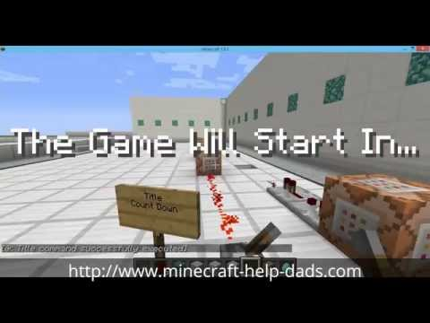 Title Command Countdown Timer - New Minecraft 1.8.1
