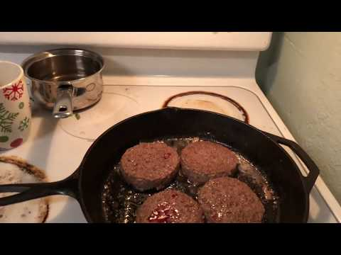 how to cook hamburgers with cast iron.