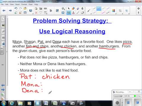 Problem Solving Strategy of Logical Reasoning 8th