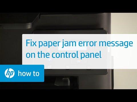 Paper Jam Error Message Displays on the Control Panel | HP