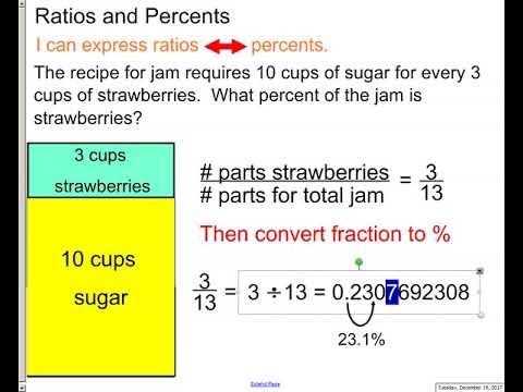chp 6 - lesson 4  - ratio and percent story problems