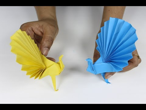 Origami Peacock; How to Make 3d Origami Paper Peacock Realistic, Easy and Simple Steps Best Paper Cr