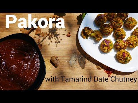 Baked Pakora with Tamarind Date Chutney - 2 Easy Vegan Recipes