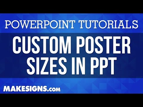 Creating Custom Poster Sizes In PowerPoint
