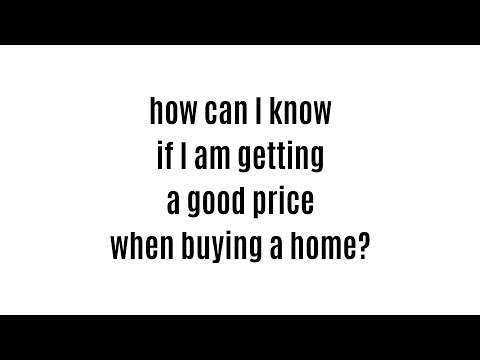 how can I check if the price of a house is right?
