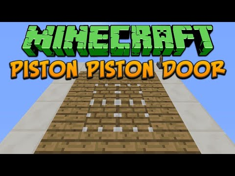How To Build A Piston Gate On Minecraft 1.5.1