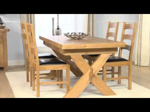 Oak Furniture: Bordeaux Dining Table & Vancouver Chairs