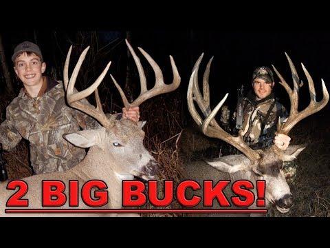 2 BIG BUCKS! KID HUNTS WHITETAIL & GIANT MULE DEER! | L2H