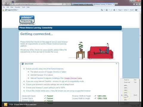 Browser Zoom Settings - Interner Explorer