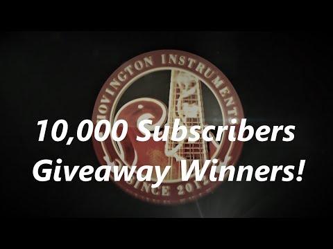 10,000 Subs Give away Winners!